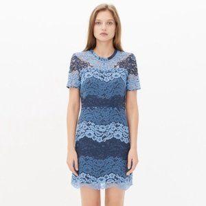 Sandro Rebecca Blue Lace Dress